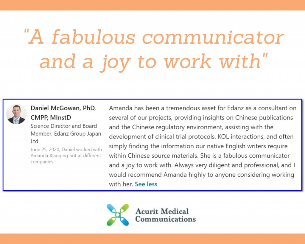 A fabulous communicator and a joy to work with